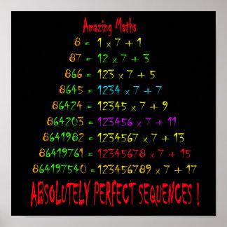 Matemáticas asombrosa 4 póster