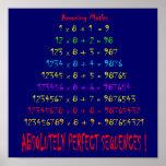 Matemáticas asombrosa impresiones