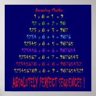 Matemáticas asombrosa póster