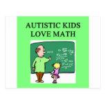 matemáticas autística del amor de los niños del au tarjeta postal