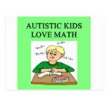 matemáticas autística del amor de los niños del au tarjetas postales