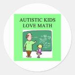 matemáticas autística del amor de los niños pegatina redonda