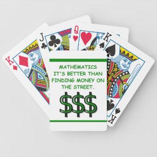 matemáticas baraja cartas de poker