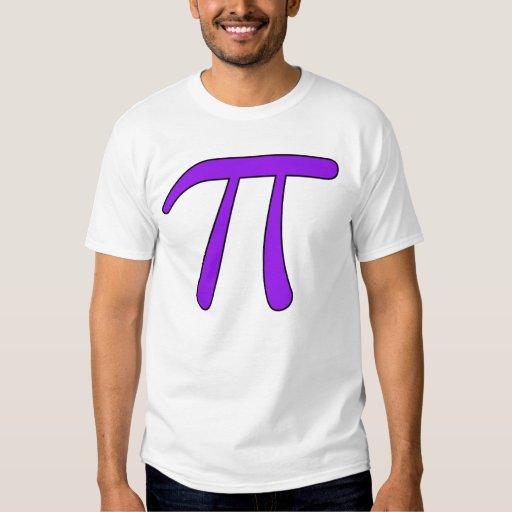 Matemáticas blanca clara púrpura verde del símbolo camisas