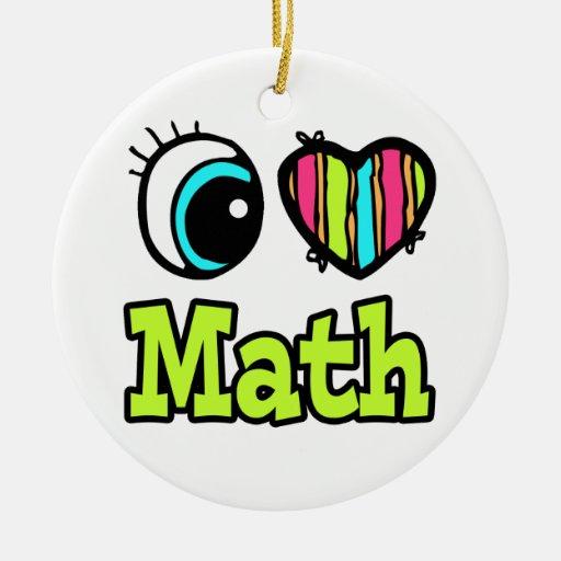 Matemáticas brillante del amor del corazón I del Adorno Navideño Redondo De Cerámica