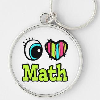 Matemáticas brillante del amor del corazón I del o Llavero Personalizado