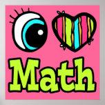 Matemáticas brillante del amor del corazón I del o Poster
