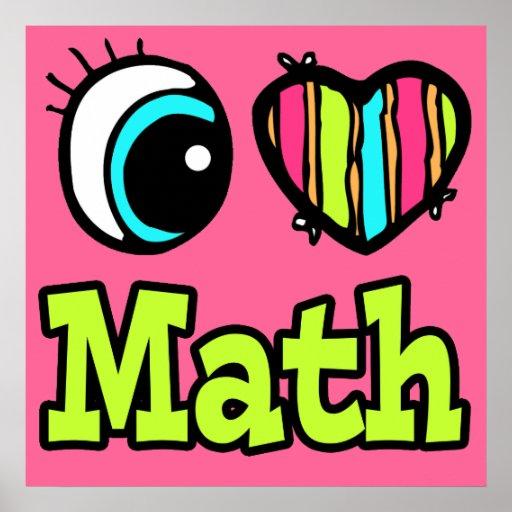 Matemáticas brillante del amor del corazón I del o Póster