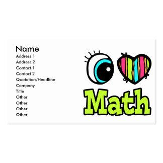 Matemáticas brillante del amor del corazón I del o Tarjetas Personales