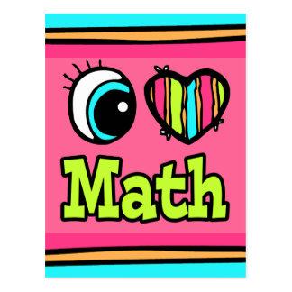 Matemáticas brillante del amor del corazón I del Postal