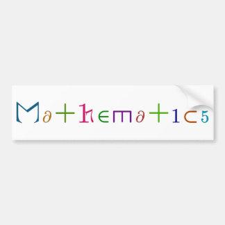Matemáticas Pegatina Para Auto