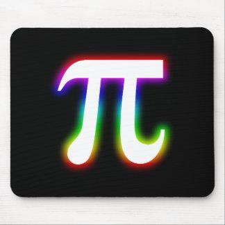 Matemáticas colorida del pi que brilla tapetes de ratón