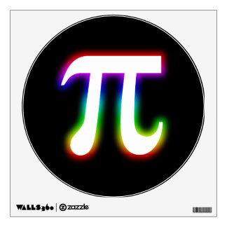 Matemáticas colorida del pi que brilla vinilo adhesivo