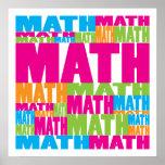 Matemáticas colorida impresiones