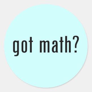¿matemáticas conseguida? pegatina redonda