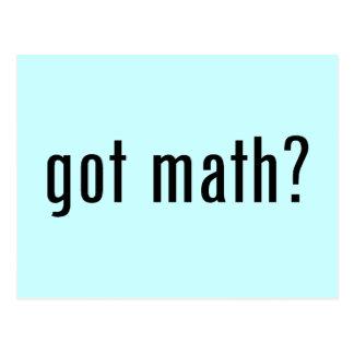 ¿matemáticas conseguida? tarjeta postal