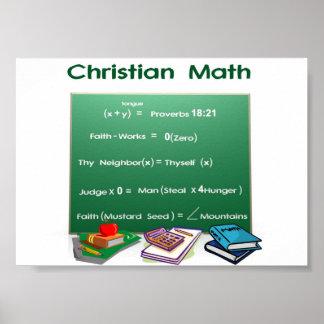 Matemáticas de la biblia póster