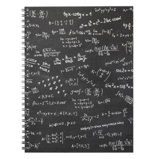 Matemáticas de la pizarra libro de apuntes