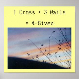 Matemáticas de Pascua - impresión Póster