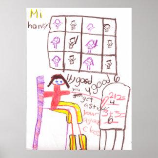 Matemáticas de Srta. Honey Teaching Her Class Poster
