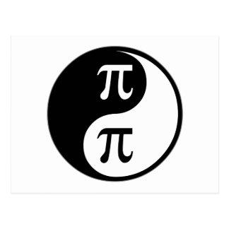 Matemáticas de Yin Yang Tarjeta Postal