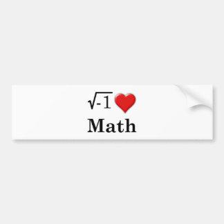 Matemáticas del amor pegatina de parachoque