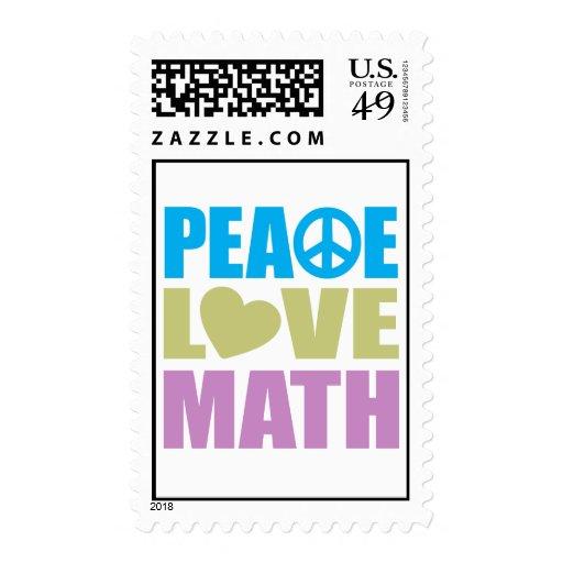 Matemáticas del amor de la paz