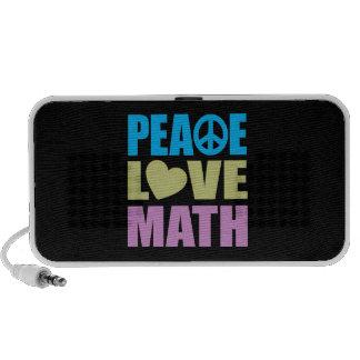 Matemáticas del amor de la paz notebook altavoz