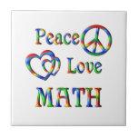 MATEMÁTICAS del amor de la paz Azulejo Ceramica