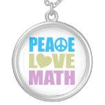Matemáticas del amor de la paz colgante personalizado