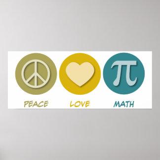 Matemáticas del amor de la paz impresiones