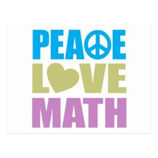 Matemáticas del amor de la paz postal