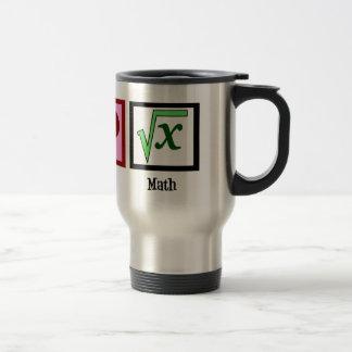 Matemáticas del amor de la paz taza de viaje de acero inoxidable