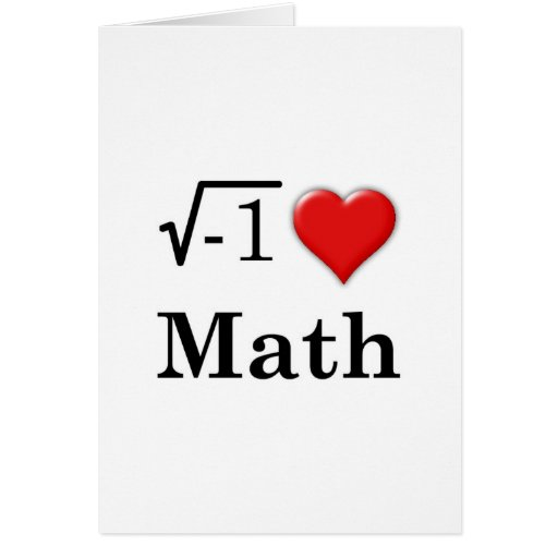 Matemáticas del amor felicitacion