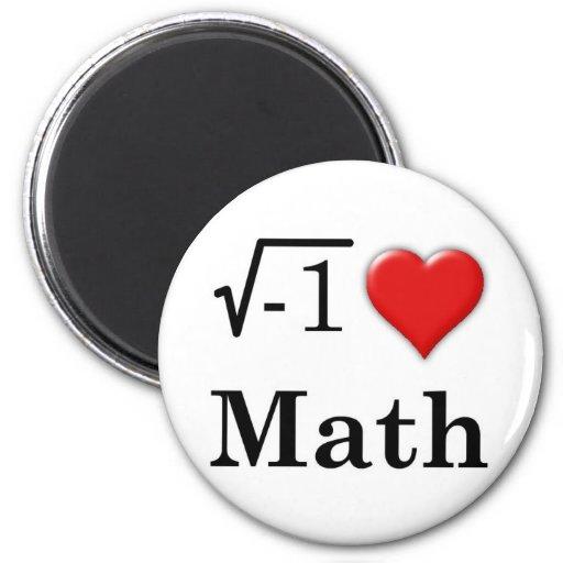 Matemáticas del amor imán de nevera