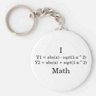 Matemáticas del corazón I Llavero Redondo Tipo Pin