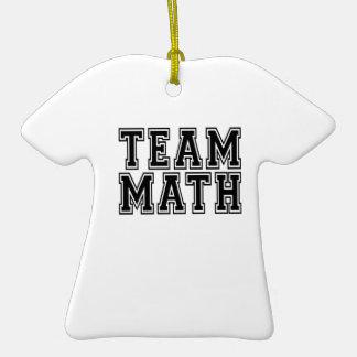 Matemáticas del equipo adorno de navidad