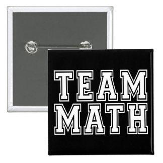 Matemáticas del equipo pin cuadrado