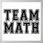 Matemáticas del equipo posters
