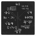 Matemáticas del friki de la diversión reloj