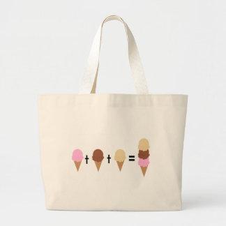 Matemáticas del helado bolsas lienzo