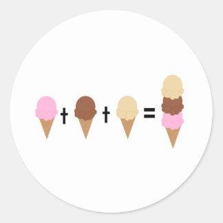 Matemáticas del helado pegatina redonda