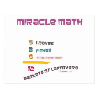Matemáticas del milagro postal