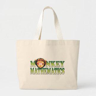 Matemáticas del mono bolsas lienzo