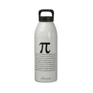 matemáticas del pi botellas de agua reutilizables
