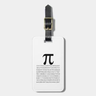 matemáticas del pi etiquetas de equipaje
