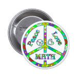 Matemáticas del signo de la paz pin