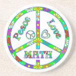 Matemáticas del signo de la paz posavasos manualidades