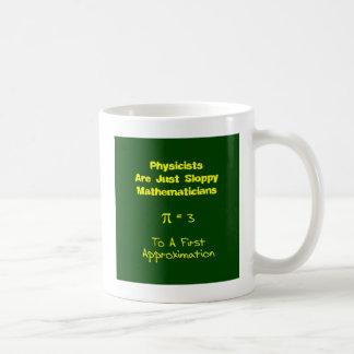 Matemáticas descuidada taza básica blanca