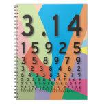 Matemáticas: el constante matemático colorido del  libreta
